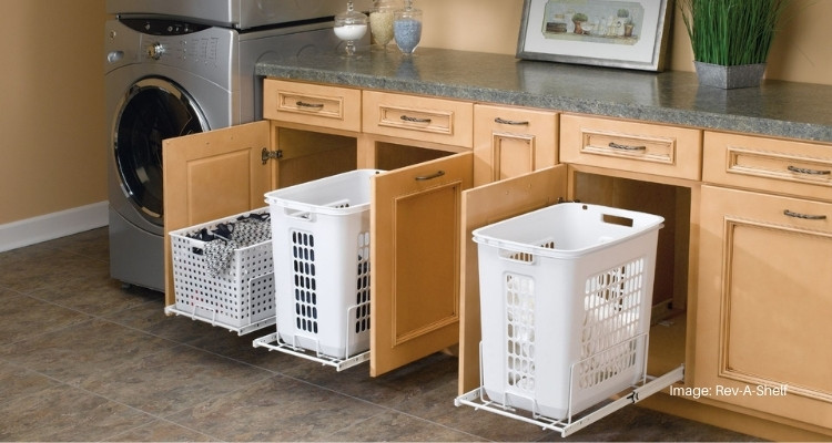 6 Best Pull Out Laundry Hamper Systems, Laundry Basket Cabinet