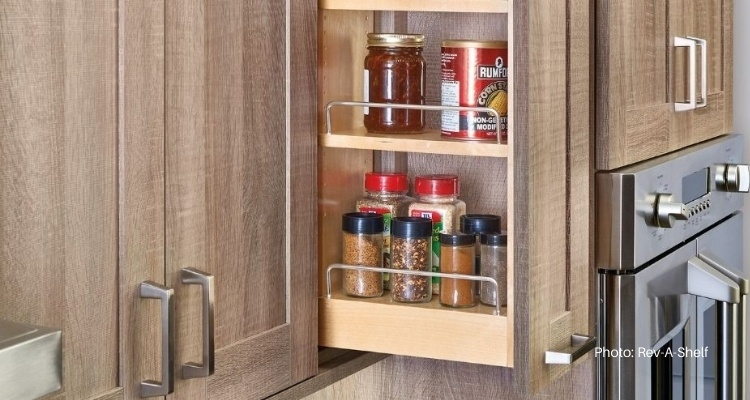 Pull Out Spice Rack For Upper Cabinets, Kitchen Cabinets Pull Out Spice Rack